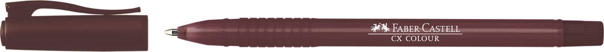 Faber-Castell Ручка-роллер СX5 0,7 мм цвет чернил коричневый247076Ручка-роллер Faber-Castell с наконечником 1 мм обеспечивает очень мягкое письмо. Привлекательный прозрачный корпус и низковязкостныечернила (semi-gel). Эргономичнаязона захвата обеспечивает комфорт во время письма. Вентиляционный колпачок оснащен упругим клипом.