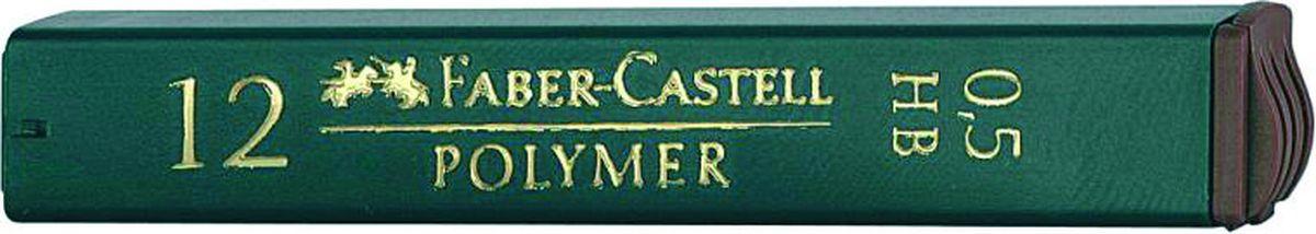 Faber-Castell Грифель для механического карандаша Polymer HB 0,5 мм 12 шт521500Графитные грифели Faber-Castell пригодны для всех стандартных механических карандашей. Интенсивные черные полные линии.Практичная упаковка, позволяющая производить чистую замену грифеля благодаря насадке. Изделия данной категории необходимы любому человеку независимо от рода его деятельности.В упаковке 12 грифелей. Твердость: НВ.