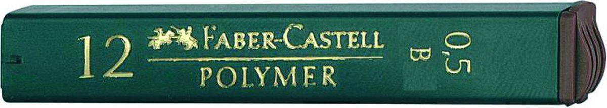 Faber-Castell Грифель для механического карандаша Polymer B 0,5 мм 12 шт521501Графитные грифели Polymer, • качественные графитные грифели • пригодны для всех стандартных механических карандашей • интенсивные черные полные линии • практичная упаковка, позволяющая производить чистую замену грифеля благодаря насадке • одна упаковка содержит 12 грифелей, 0,5мм, твердость В