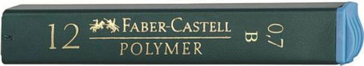 Faber-Castell Грифель для карандаша Polymer B 0,7 мм 12 шт521701Графитные грифели Polymer, • качественные графитные грифели• пригодны для всех стандартных механическихкарандашей• интенсивные черные полные линии• практичная упаковка, позволяющаяпроизводить чистую замену грифеля благодарянасадке• одна упаковка содержит 12 грифелей, 0,7мм, твердость В