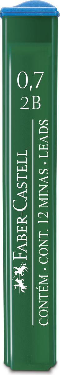 Faber-Castell Грифель для механического карандаша Polymer 2B 0,7 мм 12 шт521702Графитные грифели Polymer, • качественные графитные грифели • пригодны для всех стандартных механических карандашей • интенсивные черные полные линии • практичная упаковка, позволяющая производить чистую замену грифеля благодаря насадке • одна упаковка содержит 12 грифелей, 0,7мм, твердость 2В