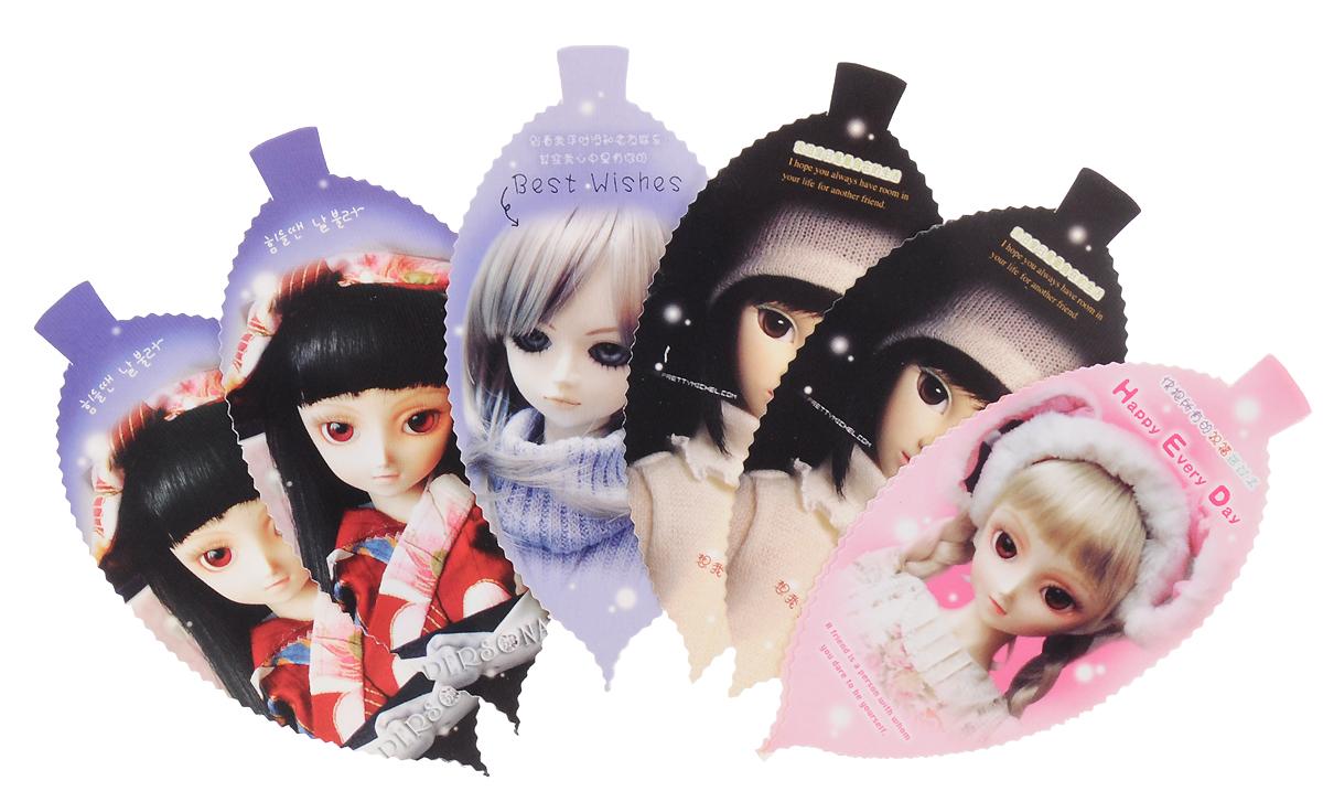 Карамба Закладка Куклы 8 шт004029Бумажные закладки вырезаны в форме листочка с изображением кукол. В комплекте 8 штук. В каждом комплекте 4 вида кукол. Уважаемые клиенты! Обращаем ваше внимание на цветовой ассортимент товара. Поставка осуществляется в зависимости от наличия на складе.