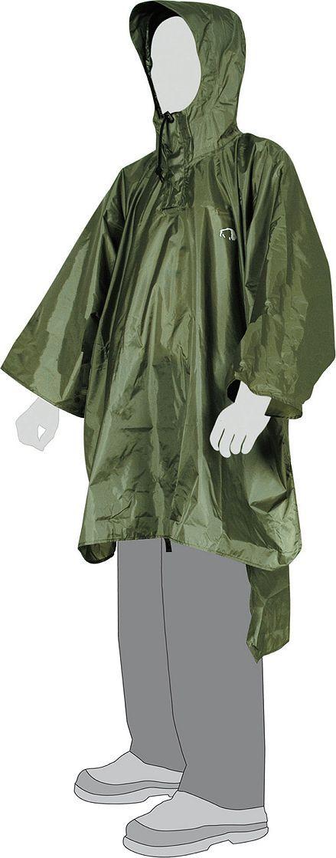 Плащ-пончо Tatonka Poncho 3, цвет: оливковый. 2801.036. Размер XL/XXL (52/54)