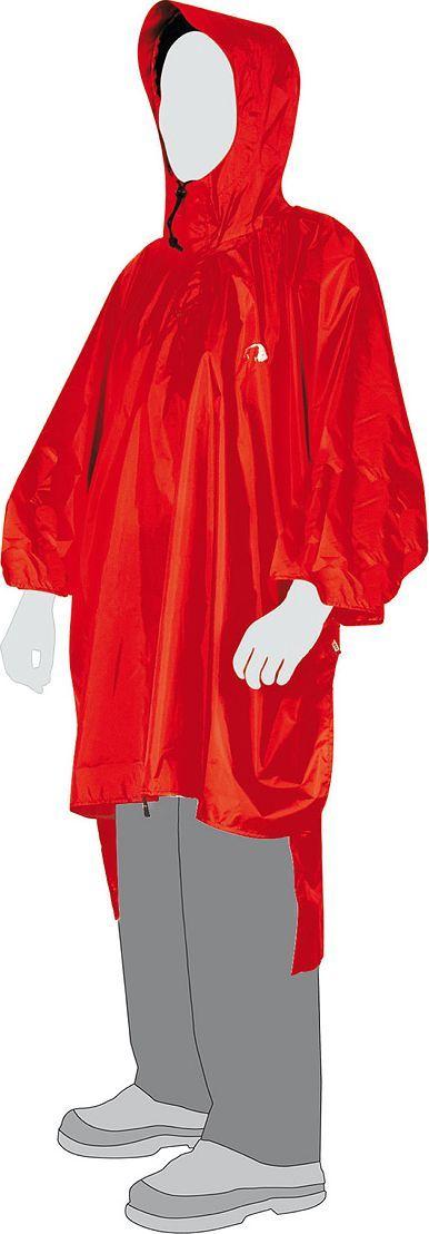 Плащ-пончо Tatonka Poncho, цвет: красный. 2799.015. Размер XS/S (44/46)PonchoПлащ-накидка - оптимальное решение при быстрой смене погоды. Никакая накидка не защитит быстрее, чем пончо из легкого нейлонового материала с полиуретановым покрытием. Благодаря капюшону со шнуровкой и фиксацией от спадания при сильном ветре накидка Poncho обеспечивает повсеместную и надежную защиту даже во время проливного дождя.Преимущества и особенности: капюшон со шнуром и фиксатором;фиксация капюшона от спадания при сильном ветре.