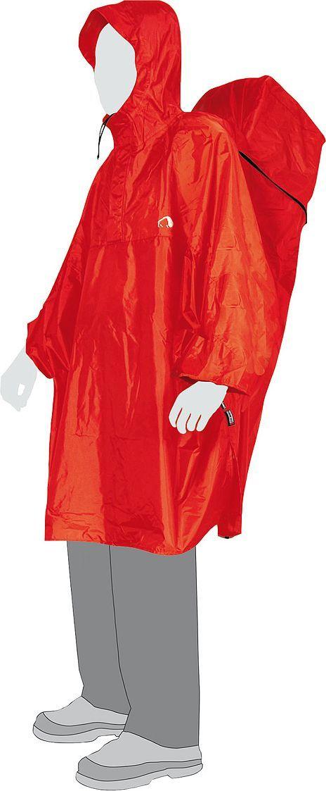 Плащ Tatonka Cape, цвет: красный. Размер XS2794.015Плащ-накидка на рюкзак. Благодаря возможности расширения объема при помощи молнии под плащом найдется место и для вашего рюкзака. Капюшон с козырьком и фиксируемой шнуровкой делают Cape Men пригодным для использования в самых плохих погодных условиях.Преимущества и особенности: Расширение на молнии для рюкзака. Капюшон с козырьком. Защита от сползания вверх при сильном ветре. Прорезные рукава. Шнурок с фиксатором.