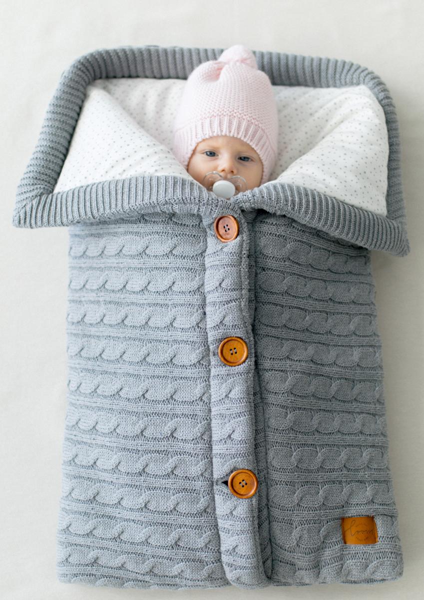 Loom Конверт для новорожденного Classic цвет серый 45 х 75 смK1004C01UGYВоздушный, зимний хлопковый конверт. Внутри тонкий утеплитель на случай прохладного вечера. Регулируйте размер конверта для комфорта Вашего малыша. А так же смело можете разбирать и использовать в качестве пледа, хорошего пледа! Внутри нежнейший интерлок.