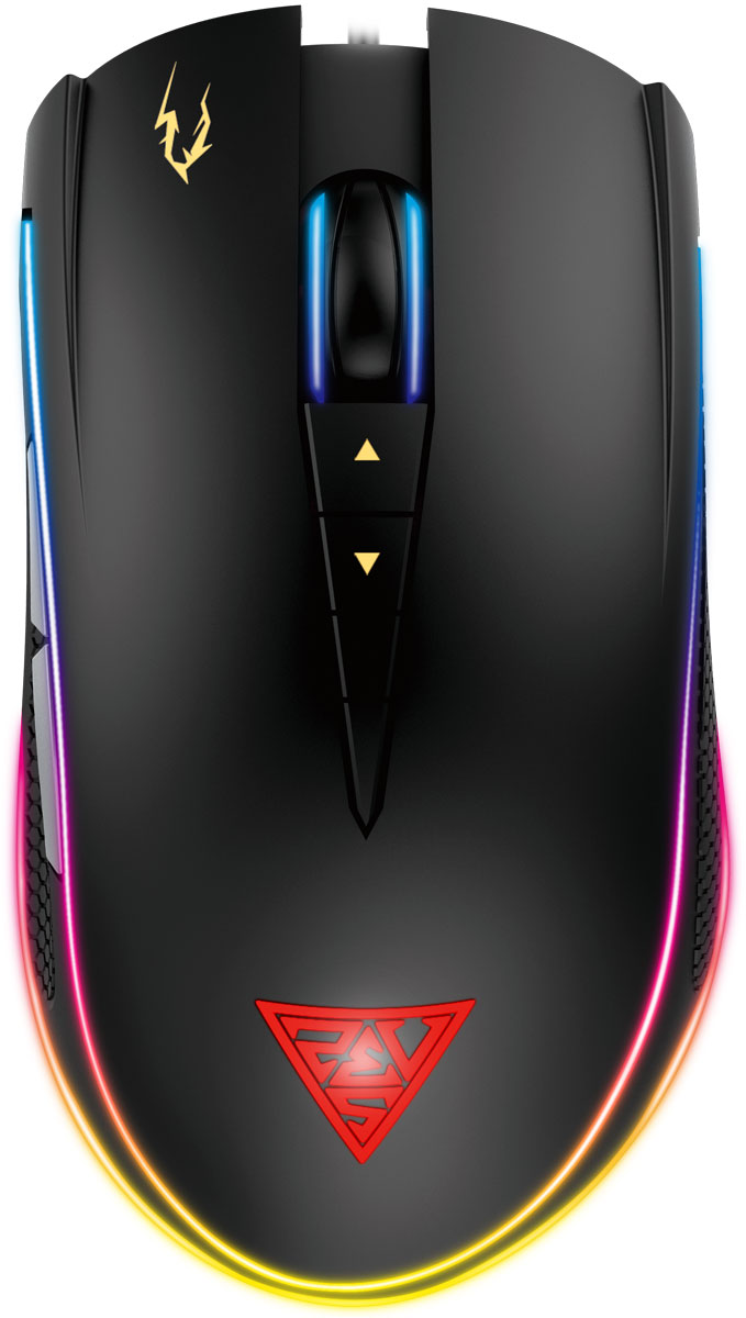 Gamdias Zeus P1, Black игровая мышьGM-GMZP1Мышь Gamdias Zeus P1 горит, как радуга с двойным уровнем RGB-подсветки. Вы можете настроить каждый уровень независимо друг от друга из 16.8 миллионов цветов!8 программируемых кнопок используются для назначения макрокоманд, профилей, клавишных сочетаний, управления мультимедийными функциями и функциями Windows.Оптический сенсор с разрешением 12000 DPI, которое можно менять на лету, гарантирует безошибочное позиционирование мыши.Благодаря продуманной эргономике вы не будете чувствовать дискомфорт при длительной работе с мышью, а также обеспечите себе плавное движение мыши.Единая программная среда HERA для периферии Gamdias позволяет настроить и привязать к клавишам экранные и звуковые оповещения с программированием по времени, макросы и многое другое.С прорезиненными боковыми вставками с обеих сторон, Gamdias Zeus P1 не выскользнет из вашей руки и обеспечит максимальное сцепление.Двойной уровень RGB-подсветки делает Gamdias Zeus P1 уникальной игровой мышью. Вы можете настроить каждый уровень независимо друг от друга из 16.8 миллионов цветов!