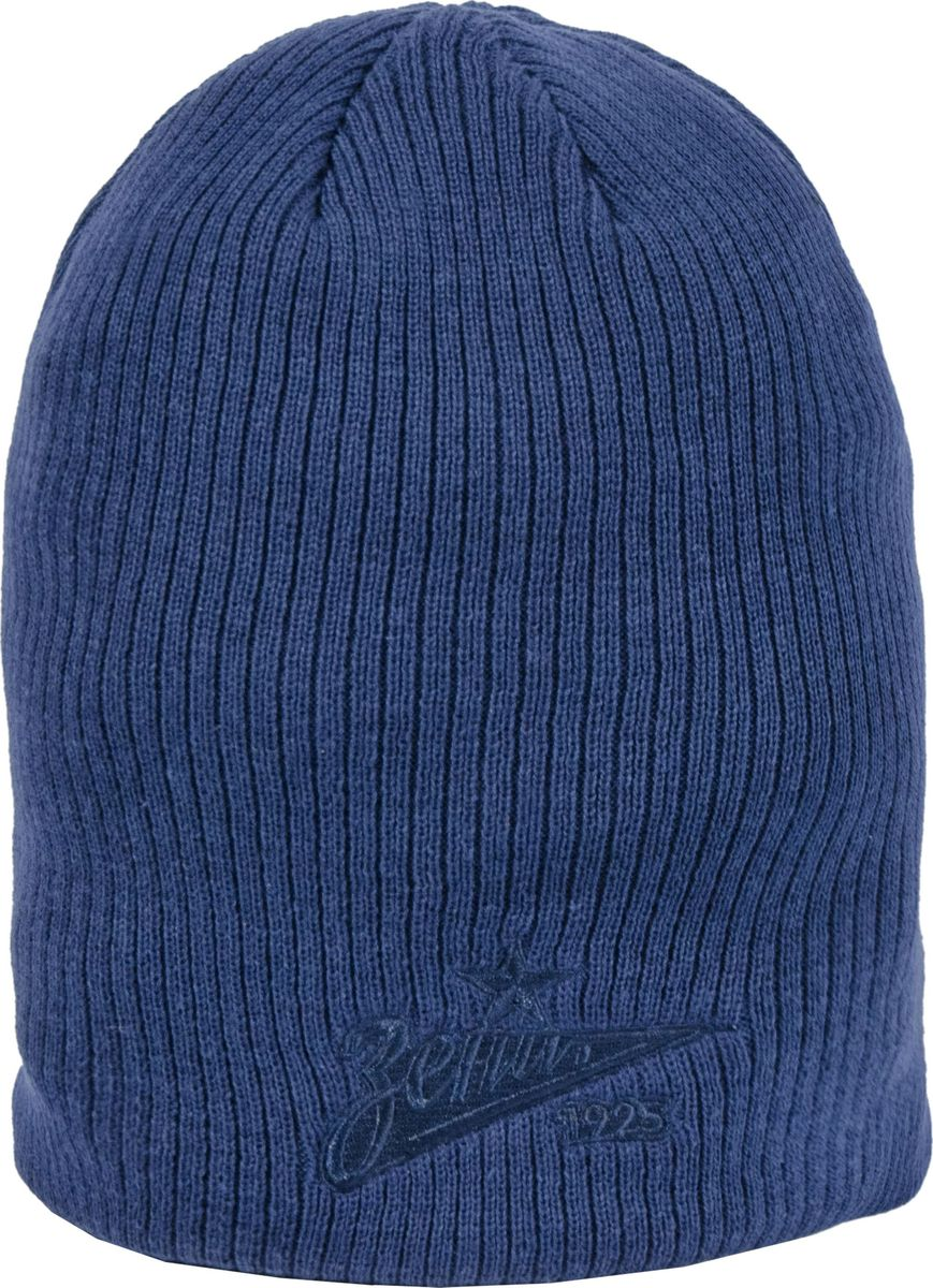Шапка мужская Atributika & Club ФК Зенит, цвет: синий. 115241. Размер 55/58115241Классическая шапка Atributika & Club снабжена объемным вышитым логотипом футбольного клуба Зенит. Выполнена из 100% акрила. Данная шапка является сертифицированным продуктом футбольного клуба Зенит, упакована в индивидуальную упаковку, защищена голограммой, имеет уникальный штрих код.