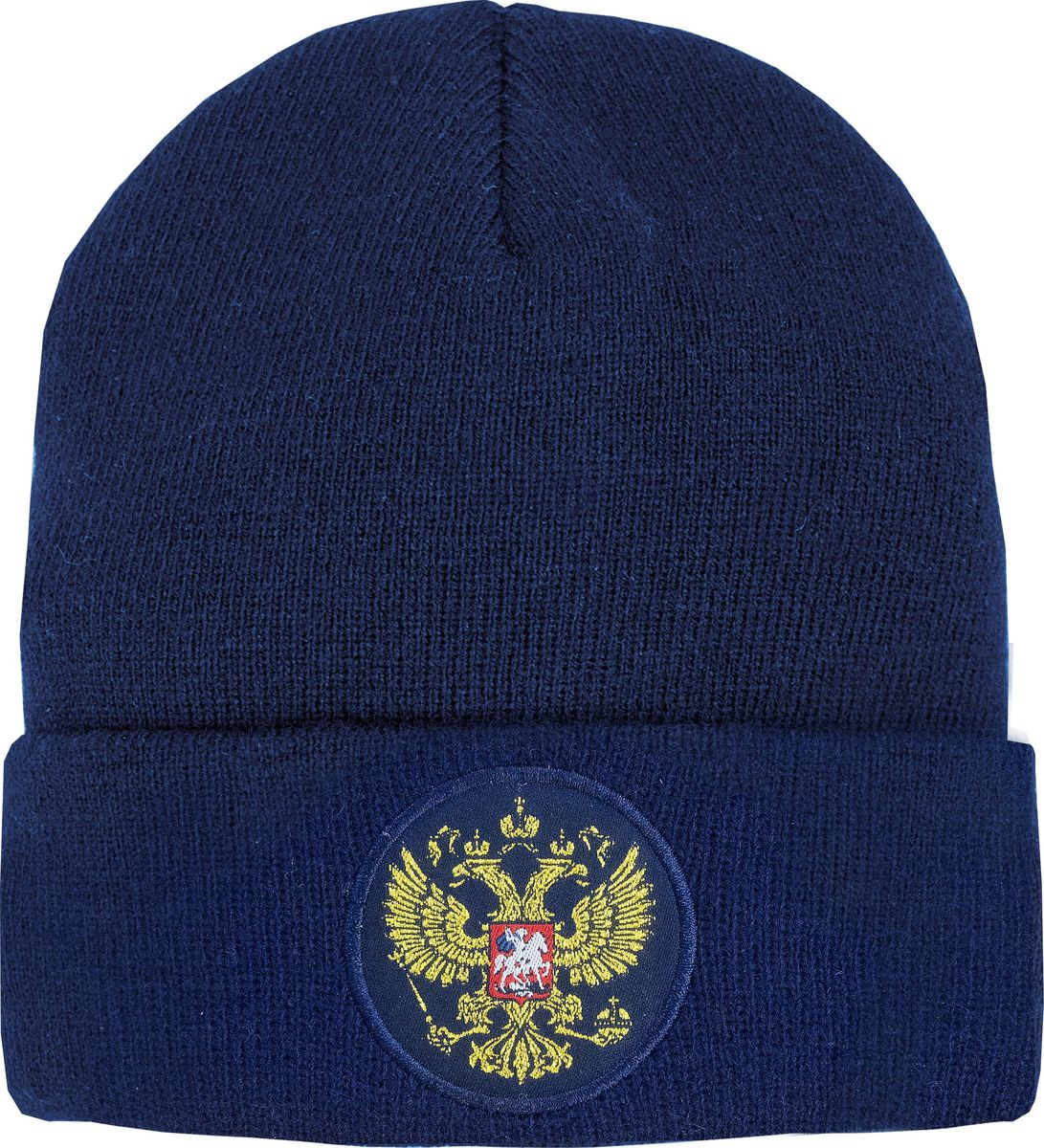 Шапка мужская Atributika & Club Россия, цвет: темно-синий. 11331. Размер 55/5811331