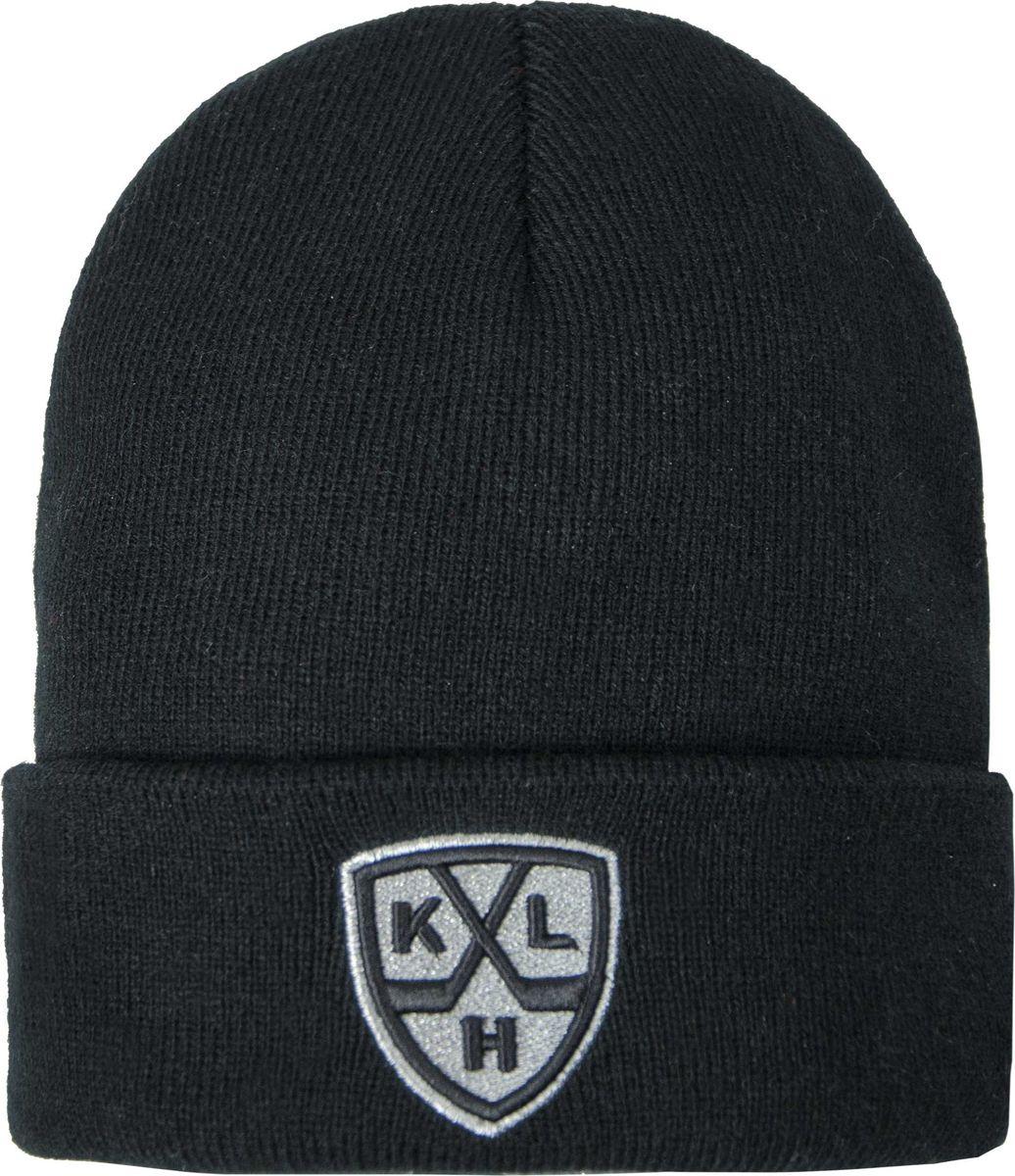 Шапка мужская Atributika & Club КХЛ, цвет: черный. 11570. Размер 55/58 шапка мужская с отворотом crew