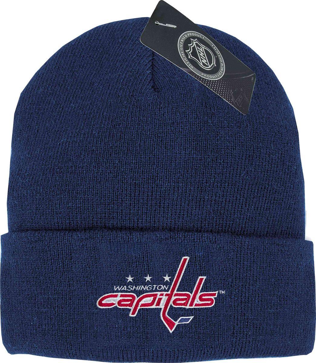 Шапка мужская Atributika & Club Washington Capitals, цвет: синий. 59010. Размер 55/5859010Мужская шапка с отворотом Atributika & Club снабжена объемным вышитым логотипом команды. Выполнена из 100% акрила. Данная шапка является сертифицированным продуктом НХЛ, упакована в индивидуальную упаковку, защищена голограммой, имеет уникальный штрих код.
