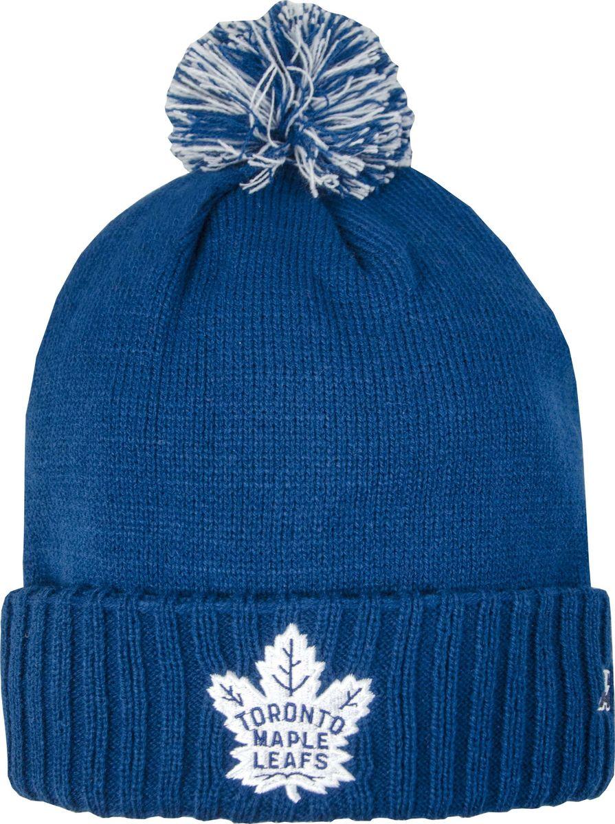 Шапка мужская Atributika & Club Toronto Maple Leafs, цвет: синий. 59041. Размер 55/5859041Мужская шапка Atributika & Club снабжена объемным вышитым логотипом команды. Выполнена из 100% акрила. Модель дополнена отворотом и ярким помпоном. Данная шапка является сертифицированным продуктом НХЛ, упакована в индивидуальную упаковку, защищена голограммой, имеет уникальный штрих код.