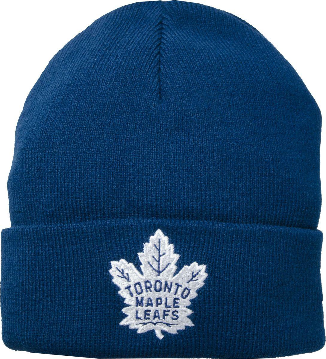 Шапка мужская Atributika & Club Toronto Maple Leafs, цвет: синий. 59032. Размер 55/5859032