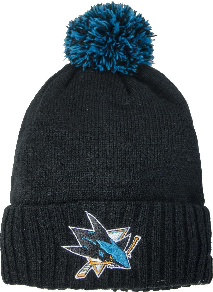 Шапка мужская Atributika & Club San Jose Sharks, цвет: черный. 59045. Размер 55/5859045Мужская шапка Atributika & Club снабжена объемным вышитым логотипом команды San Jose Sharks. Выполнена из 100% акрила. Модель дополнена отворотом и ярким помпоном. Данная шапка является сертифицированным продуктом НХЛ, упакована в индивидуальную упаковку, защищена голограммой, имеет уникальный штрих код.
