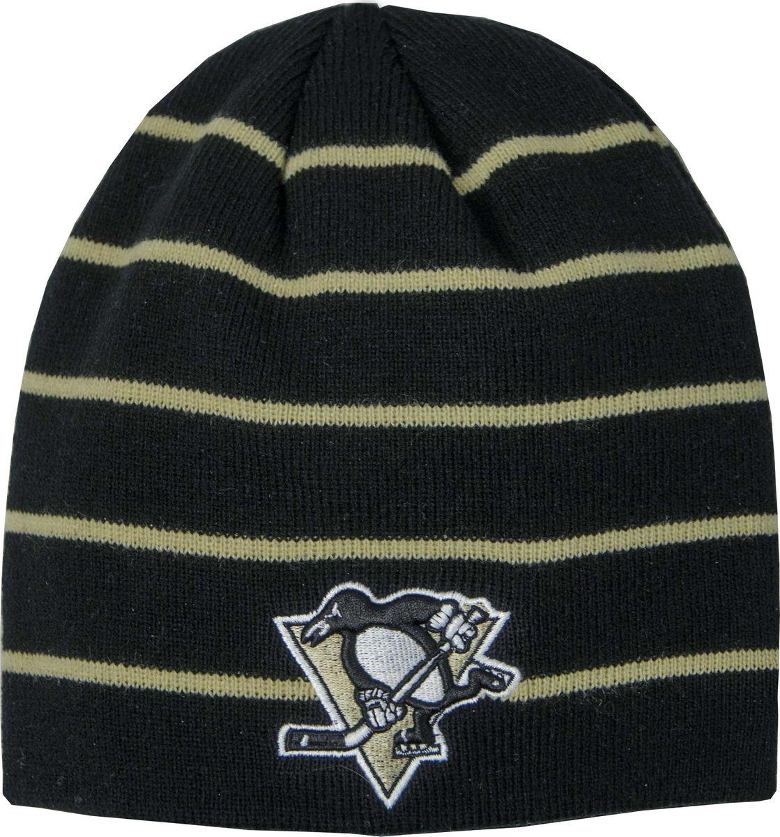 Шапка мужская Atributika & Club Pittsburgh Penguins, цвет: черный. 59038. Размер 55/5859038Мужская шапка в полоску Atributika & Club снабжена объемным вышитым логотипом команды. Выполнена из 100% акрила. Данная шапка является сертифицированным продуктом НХЛ, упакована в индивидуальную упаковку, защищена голограммой, имеет уникальный штрих код.