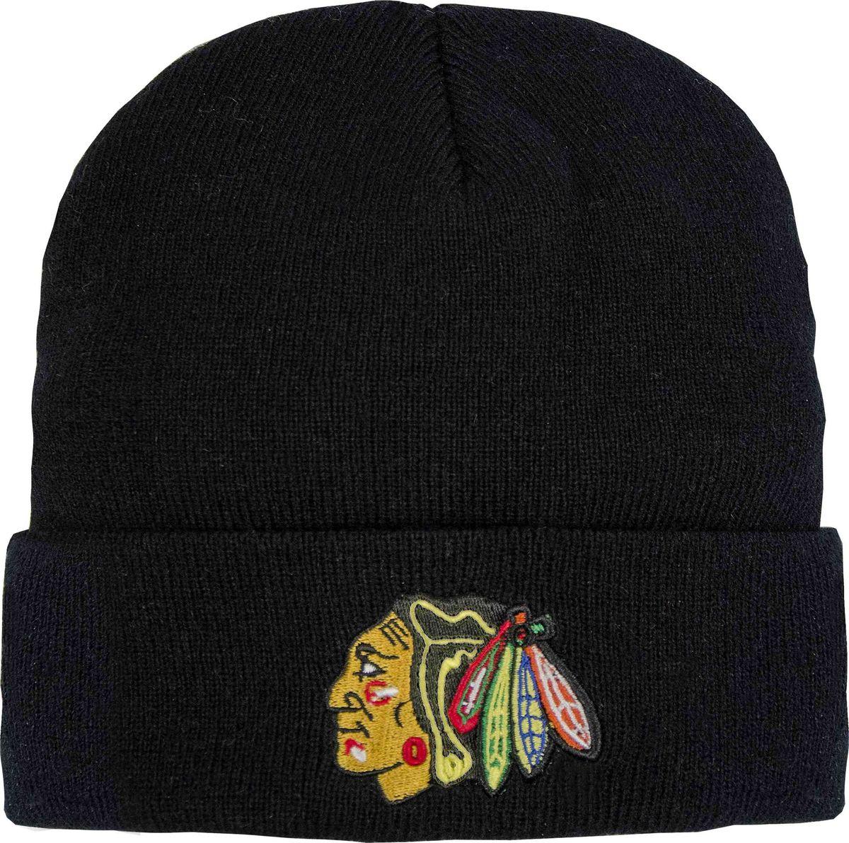 Шапка мужская Atributika & Club Chicago Blackhawks, цвет: черный. 59001. Размер 55/58 шапка мужская atributika