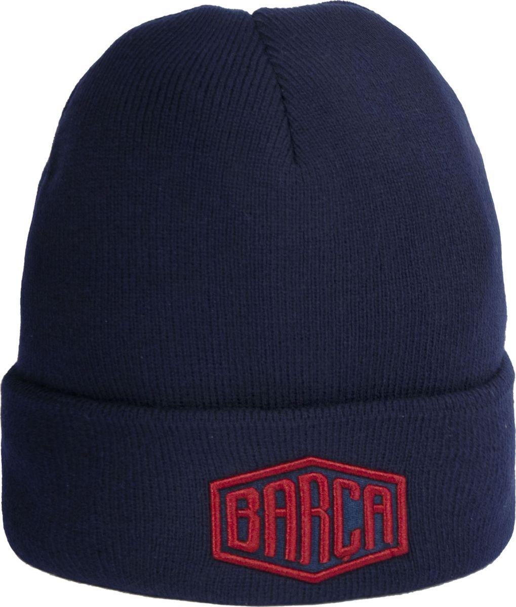 Шапка мужская Atributika & Club Barcelona, цвет: темно-синий. 115119. Размер 55/58