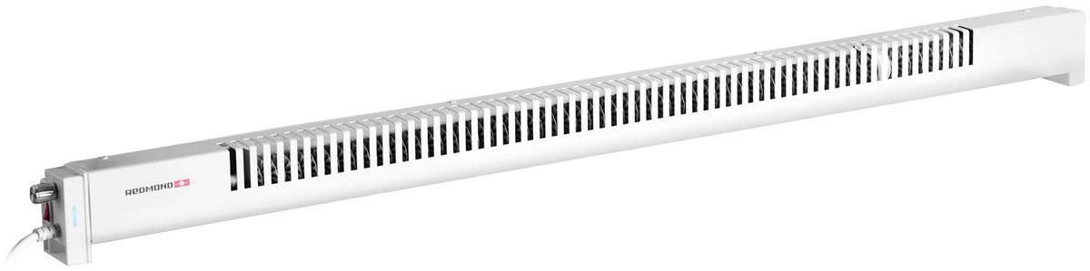Redmond SkyHeat RCH-7002S, Black обогревательRCH-7002SУмный и компактный плинтусный обогреватель Redmond SkyHeat RCH-7002S - современное устройство, которое создаст комфортную атмосферу в квартире, даче, в небольшом офисе.Обогреватель отличается от других конвекторов принципом работы: 7002S устанавливается на стену и прогревает ее. Затем стена выступает в роли теплового экрана, согревающего комнату. При такой системе работы тепло в комнате распределяется по принципу естественной конвекции: воздух не разделяется на холодный и теплый, и все помещение прогревается равномерно.Смарт-обогреватель идеален для людей с аллергией и заболеваниями дыхательный путей. За счет того, что конвективный поток 7002S имеет небольшую скорость, в воздух не поднимается пыль и различные мелкие частицы, способные вызвать аллергические реакции.Благодаря конструкции конвектора во время нагрева и остывания 7002S не возникает посторонних шумов, поэтому его можно смело установить в спальне, детской или небольшом офисе.Плинтусным обогревателем 7002S можно управлять с любого расстояния: через мобильное приложение Ready for Sky на вашем смартфоне можно включить/отключить конвектор, задать степень нагрева (4 уровня) и установить расписание работы устройства.Использование умного обогревателя максимально безопасно. Из любой точки мира можно проверить статус работы 7002S и при необходимости отключить его. А благодаря специальной защите от водяных брызг установить прибор можно даже во влажных помещениях.