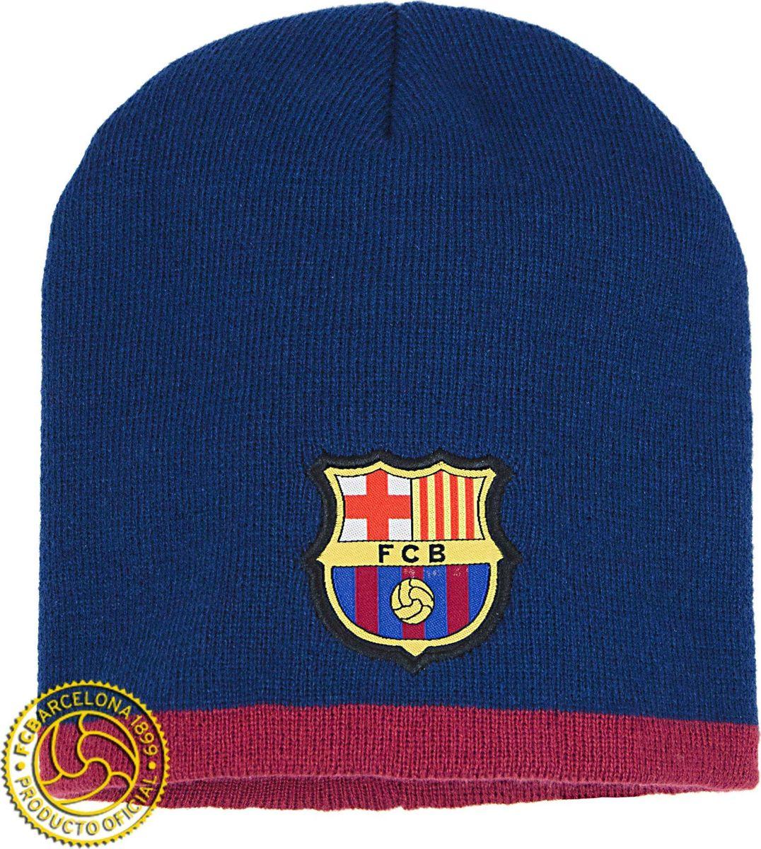 Шапка мужская Atributika & Club Barcelona, цвет: синий. 115103. Размер 55/58115103Классическая шапка Atributika & Club с объемным вышитым логотипом футбольного клуба. Выполнена из 100% акрила. Данная шапка является сертифицированным продуктом футбольного клуба Барселона, упакована в индивидуальную упаковку, защищена голограммой, имеет уникальный штрих код.