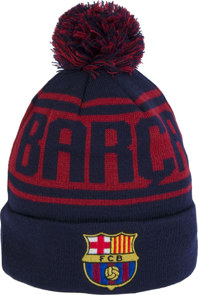 Шапка мужская Atributika & Club Barcelona, цвет: синий, бордовый. 115116. Размер 55/58115116Классическая шапка Atributika & Club с объемным вышитым логотипом футбольного клуба. Выполнена из 100% акрила. Модель дополнена отворотом, помпоном и надписью. Данная шапка является сертифицированным продуктом футбольного клуба Барселона, упакована в индивидуальную упаковку, защищена голограммой, имеет уникальный штрих код.