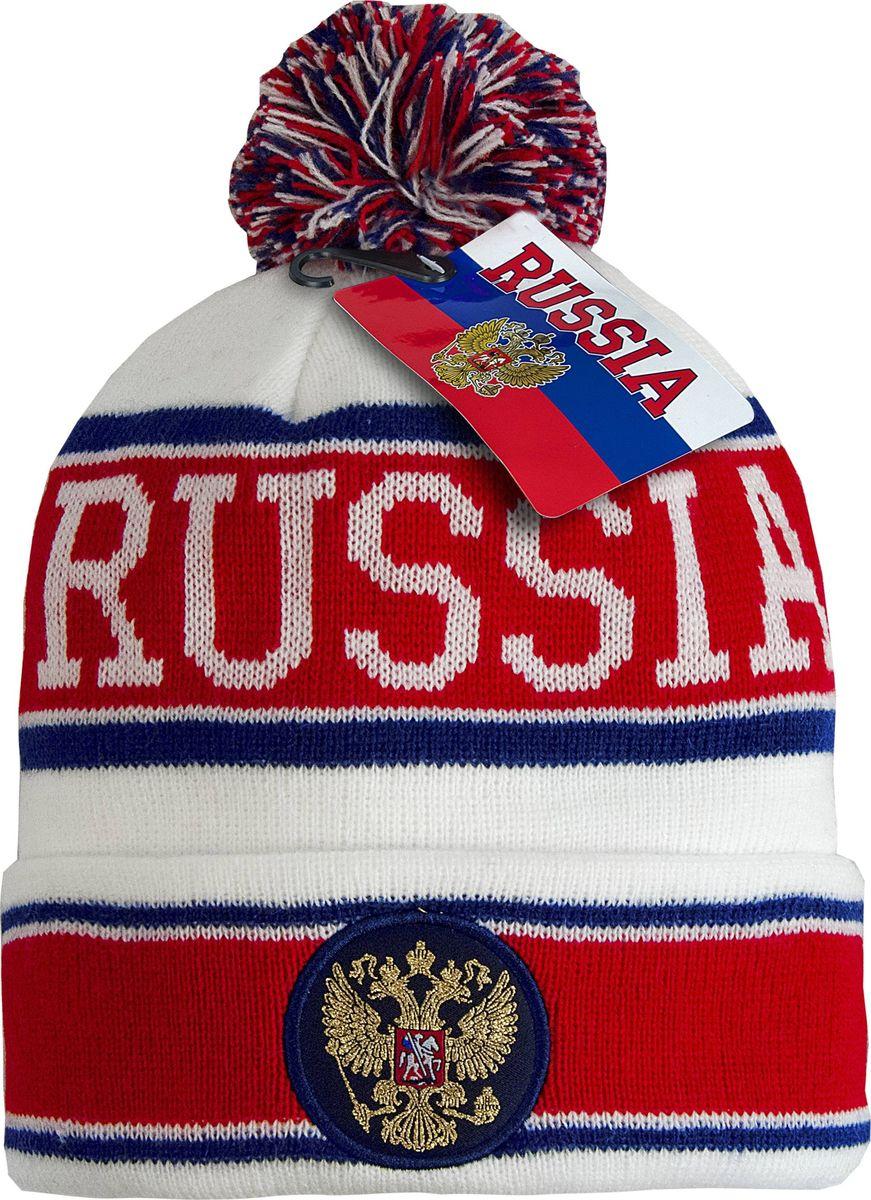 Шапка детская Atributika & Club Россия, цвет: белый, красный. 11320. Размер 52/54
