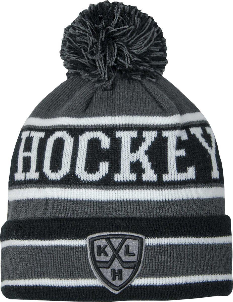 Шапка детская Atributika & Club КХЛ, цвет: серый, черный. 11566. Размер 52/5411566Классическая шапка Atributika & Club снабжена объемным вышитым логотипом КХЛ. Выполнена из 100% акрила. Модель дополнена отворотом, помпоном и надписью Hockey. Данная шапка является сертифицированным продуктом Континентальной Хоккейной Лиги, упакована в индивидуальную упаковку, защищена голограммой, имеет уникальный штрих код.