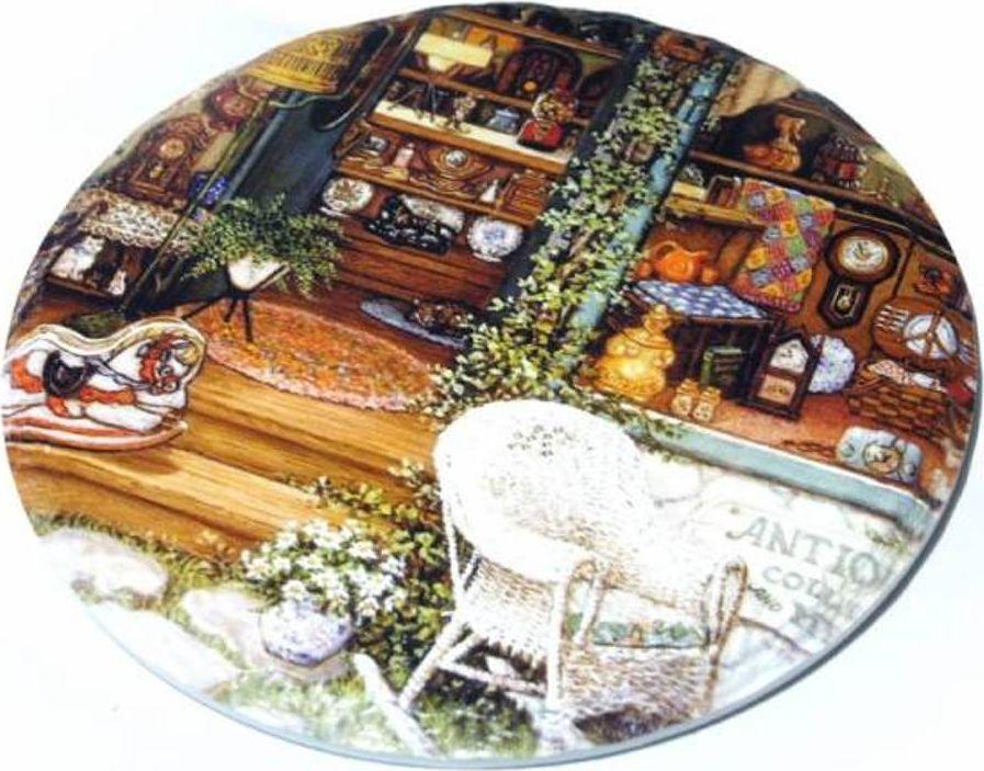 Подставка под горячее Карамба Пейзаж 5, 15 x 15 см3336Эта подставка под горячее выполнена в стиле французского Прованса. Милые пастельных тонов цветочки нанесены на плитку с красиво обработанным краем. Снизу наклеена пробка.