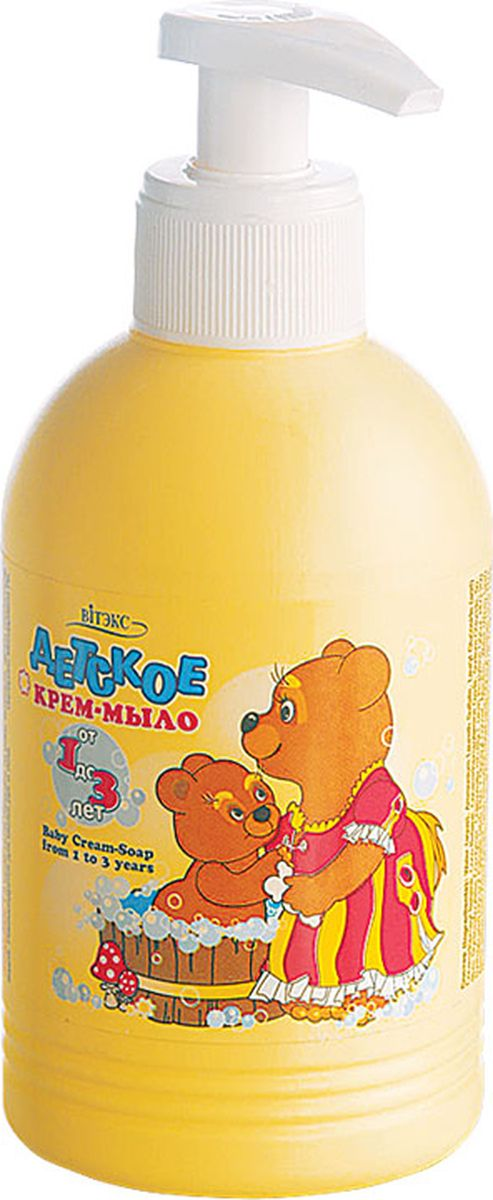 Витэкс Детское крем-мыло от 1 года до 3-х лет, 300 млV-82Бережный уход за самой нежной кожей!Активные компоненты: молочко овса, экстракт ромашкиСоздано с учетом особенностей детской кожи. Бережно очищает ее, не нарушая защитных свойств. Молочко овса и экстракт ромашки заботятся о здоровье кожи Вашего малыша. Применение: 1-2 капли мыла нанесите на кожу, вспеньте, затем сполосните водой. Рекомендуется для мытья рук и тела.