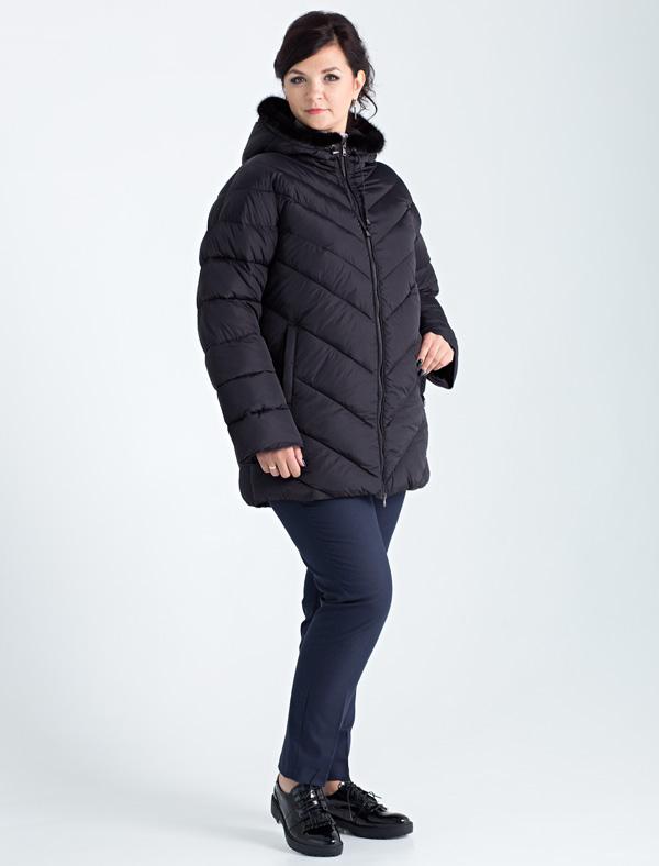 Куртка женская Defreeze, цвет: черный. 62-233_black. Размер 4462-233_blackЖенская куртка DEFREEZE выполнена из полиэстера и дополнена фигурной стежкой. В качестве утеплителя используется био-пух. Модель застегивается на застежку-молнию. По бокам имеются прорезные карманы. Капюшон отделан мехом норки в тон основной ткани. Рукав по длине регулируется с помощью отворота. Модель рассчитана на большой размерный ряд.