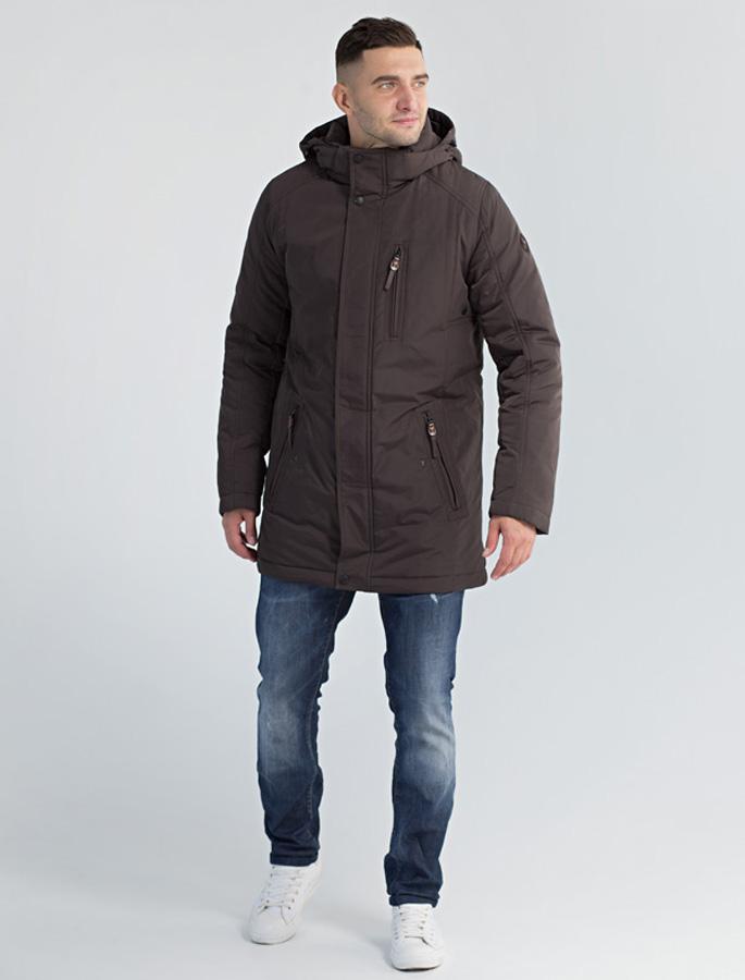 Куртка мужская Defreeze, цвет: коричневый. 61-812_d.khaki. Размер 5661-812_d.khakiМужская куртка-парка DEFREEZE выполнена из нейлона. В качестве утеплителя используется био-пух. Модель застегивается на застежку-молнию и имеет ветрозащитную планку на кнопках. Оснащена капюшоном и удобными карманами: нижние на молнии и с клапаном, верхний вертикальный карман на молнии.