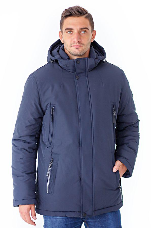 Куртка мужская Defreeze, цвет: синий. 61-803_d.navy. Размер 5661-803_d.navyУдобная зимняя куртка DEFREEZE выполнена из плотного материала с водоотталкивающей пропиткой. В качестве утеплителя используется био-пух, выдерживающий значительные морозы. Модель застегивается на молнию, которая дополнена ветрозащитной планкой на кнопках. Куртка имеет несколько удобных карманов на молнии, капюшон и воротник-стойку.