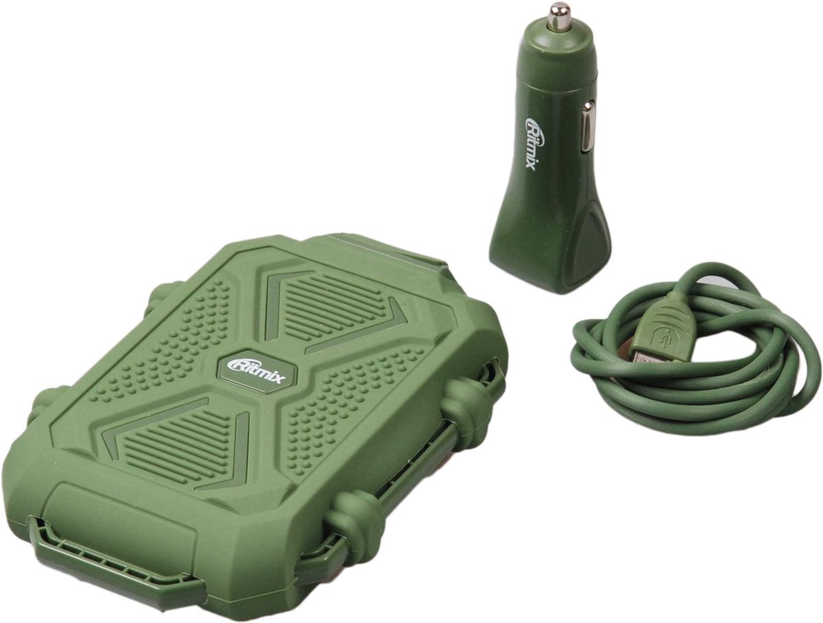 Ritmix RM-3499DC, Green внешний аккумулятор (10000 мАч)