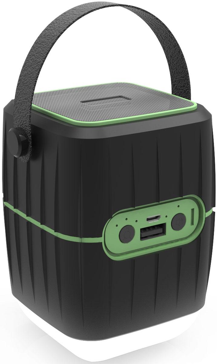 Ritmix RPB-8800LT, Black Green внешний аккумулятор (8800 мАч)15119245Ritmix RPB-8800LT - это универсальное зарядное устройство, совмещающее в себе функцию Power Bank, колонки и лампы. Предназначено для зарядки мобильных телефонов, смартфонов, мр3-плееров, портативной акустики, беспроводных наушников, видеорегистраторов, портативных камер и любой другой техники с возможностью питания от USB порта 5В 2,1А. Отличается низким саморазрядом и отсутствием негативного эффекта памяти. Заряжается от USB порта компьютера, автомобильной или сетевой USB зарядки. (Travel) Power bank+фонарь+колонка, Li-Ion емкость 8 800мАч выход USB 5В 2,1А Quich charge, IP65, лампа 3W 12 LED (3 режима), спикер 3Вт, Bluetooth 4.1, SNR:75DB, 18-80Гц, distortion <0.55%, световой индикатор заряда, с отстегивающейся ручкой