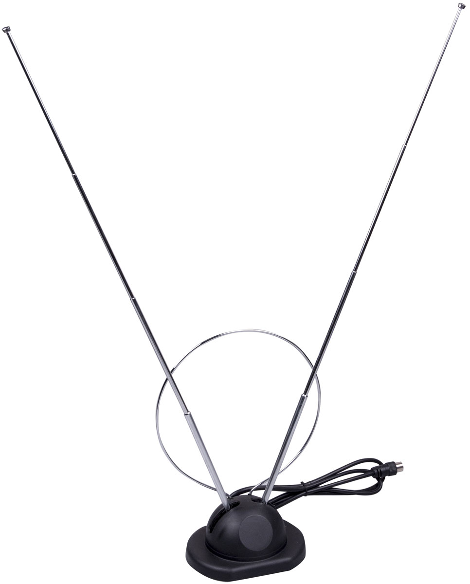 Ritmix RTA-003, Black комнатная ТВ-антенна