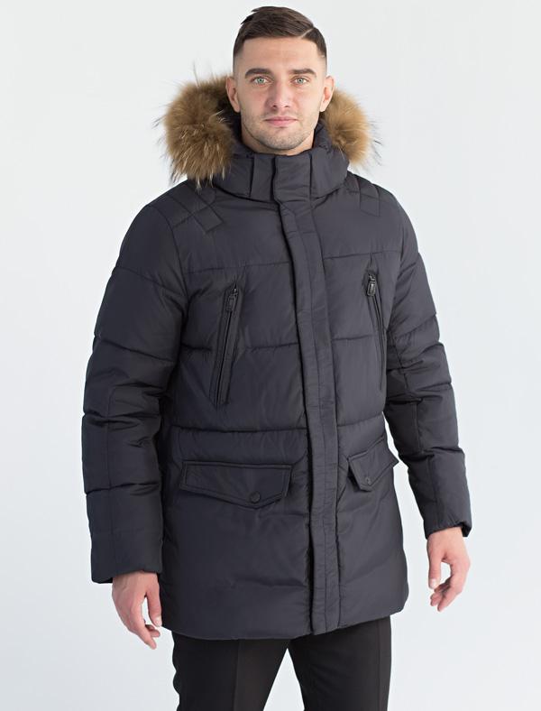 Куртка мужская Defreeze, цвет: синий. 71-278_d.navy. Размер 5471-278_d.navyКлассическая куртка-аляска прямого кроя DEFREEZE выполнена из нейлона. В качестве утеплителя используется био-пух, выдерживающий значительные морозы. Модель застегивается на молнию, которая дополнена ветрозащитной планкой на кнопках. Куртка имеет удобные прорезные карманы на груди, карманы с клапанами на кнопках, трикотажные внутренние манжеты, капюшон с опушкой из натурального меха енота. Для регулировки посадки по линии талии предусмотрена внутренняя кулиска.