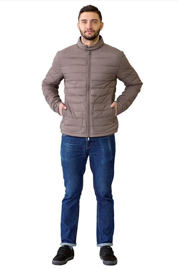Куртка мужская Defreeze, цвет: темно-серый. 71-211_antracid. Размер 5471-211_antracidЛегкая демисезонная куртка в стиле casual DEFREEZE выполнена из нейлона. В качестве утеплителя используется холлофайбер. Куртка застегивается на молнию. Имеет 2 оригинальных кармана на молнии, которые оформлены декоративной строчкой, воротник-стойку на пуговице, манжеты на кнопках.