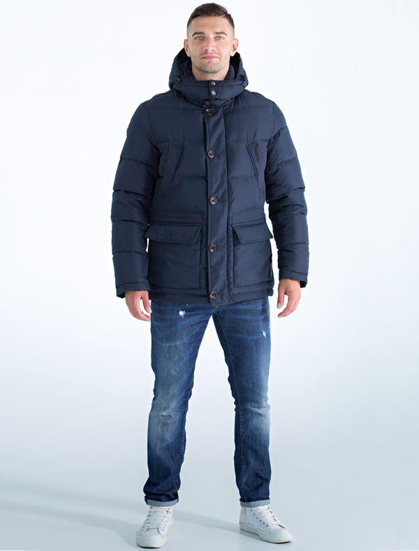 Куртка мужская Defreeze, цвет: темно-синий. 71-274_d.denim. Размер 5071-274_d.denimКлассическая куртка слегка приталенного силуэта DEFREEZE выполнена из плотной нейлоновой ткани. В качестве утеплителя используется био-пух, выдерживающий значительные морозы. Модель застегивается на молнию, которая дополнена ветрозащитной планкой на пуговицах. Куртка имеет карманы на груди, объемные карманы с клапанами, капюшон, воротник-стойку.