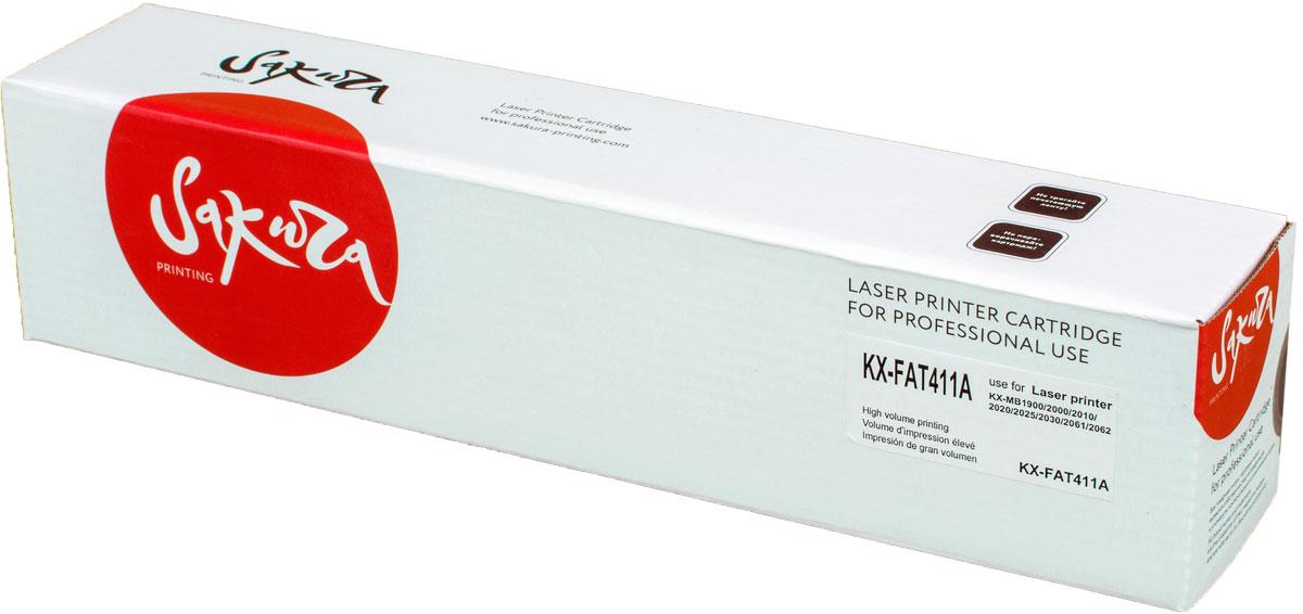 Sakura KXFAT411А, Black тонер-картридж для Panasonic KX-MB1900/KX-MB2000/KX-MB2020/KX-MB2030/KX-MB2051/KX-MB2061SAKXFAT411AКартридж SAKURA KXFAT411А для Panasonic KX-MB1900, KX-MB2000, KX-MB2020, KX-MB2030, KX-MB2051, KX-MB2061, черный, 2000 к.