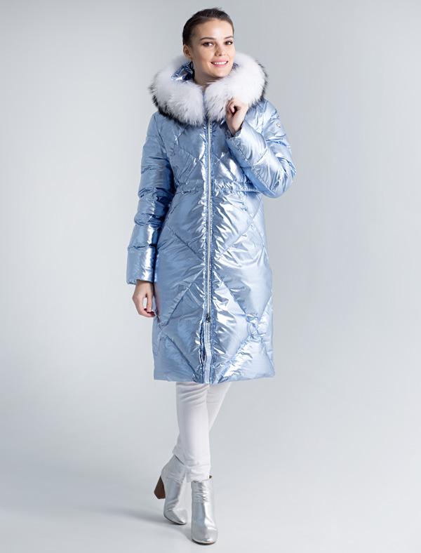 Пальто женское Defreeze, цвет: голубой. 72-137_ice blue. Размер 4272-137_ice blue