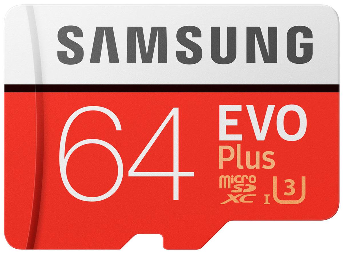Samsung microSDXC Class 10 EVO+ V2 64GB карта памяти с адаптеромSAM-MB-MC64GARUКарты серии EVO Plus идеально подходят для записи самых дорогих моментов в жизни и последующем чтении 4K UHD видео на совместимом устройстве.Карты microSD совместимы с широким спектром устройств, а благодаря входящему в комплект SD-адаптеру подходит для еще большего количества устройств почти любой торговой марки, сохраняя при этом отличную скорость и производительность EVO Plus.Карта памяти Samsung microSDXC Class 10 EVO+ V2 защищена4-мя типами защиты: она может выдерживать до 72 часов в морской воде, работать в экстремальных температурах, находиться в рентгеновских аппаратах аэропортов или под воздействием электро-магнитных волн, эквивалентных МРТ.