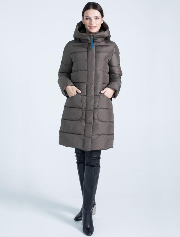 Пальто женское Defreeze, цвет: оливковый. 72-232_khaki. Размер 44