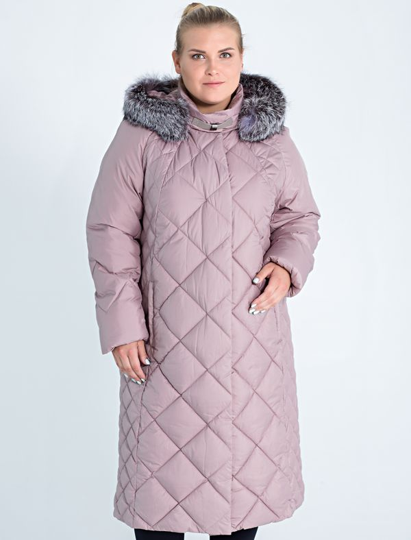 Пальто женское Defreeze, цвет: розовый. 62-255_orhcid. Размер 56