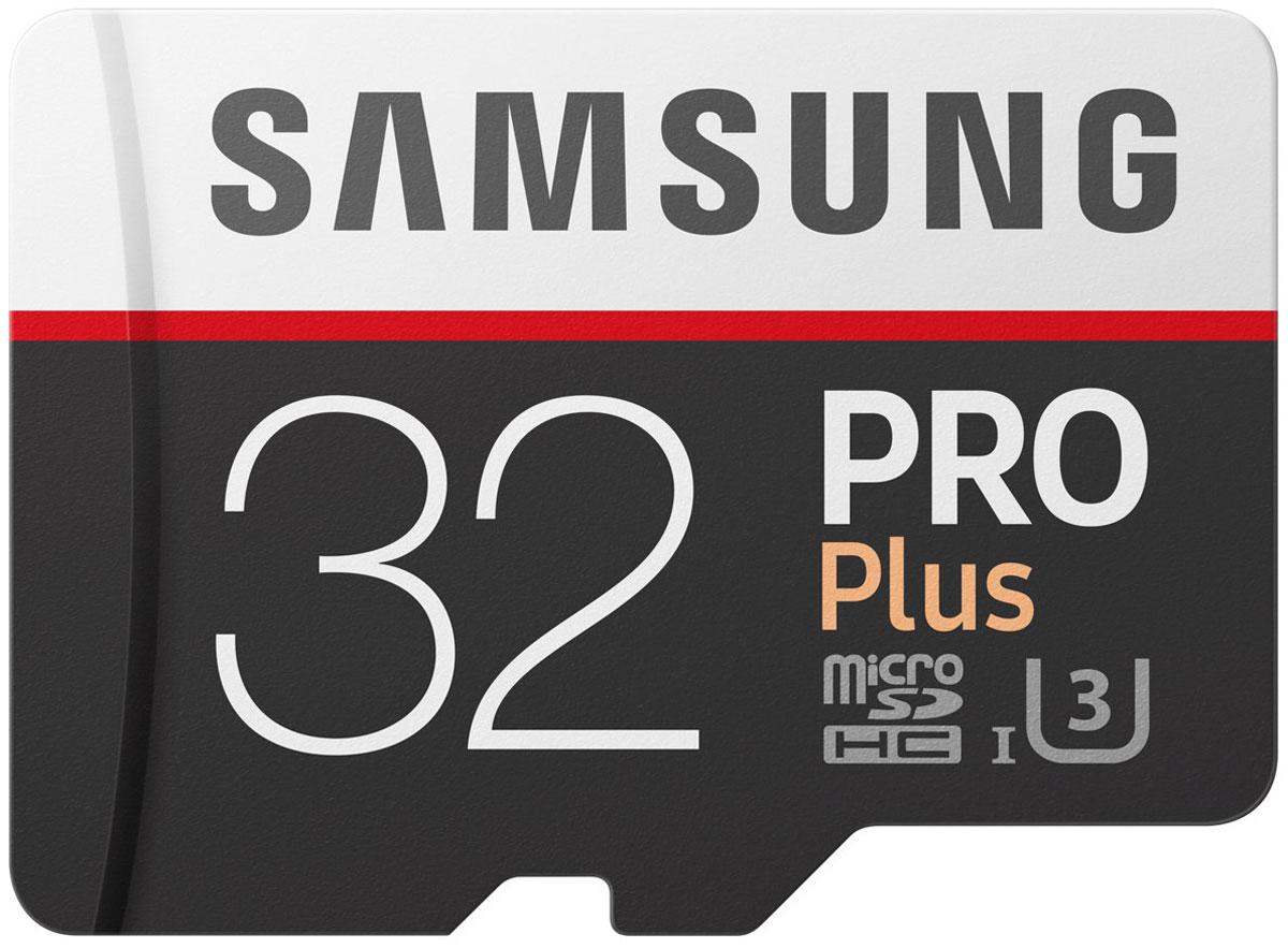 Samsung PRO Plus v2 microSDHC UHS-I U3 32GB карта памяти с адаптеромMB-MD32GA/RUКарты памяти Samsung PRO Plus отличаются высокой надежностью даже при самых жестких условиях эксплуатации и в самых тяжелых условиях и идеально подходят для 4K UHD контента.Серия карт PRO Plus задает высокую планку для запись без сбоев динамичного контента (будь то экстремальный спорт или другое) - это возможно благодаря высокой скорости чтения и записи до 100 млн байт / сек и 90 млн байт / сек, соответственно.Карты micro SD совместимы с широким спектром устройств, а благодаря входящему в комплект SD-адаптеру подходит для еще большего количества устройств почти любой торговой марки, сохраняя при этом отличную скорость и производительность.Карты EVO Plus защищены 4-мя типами защиты: они могут выдерживать до 72 часов в морской воде, работать в экстремальных температурах, находиться в рентгеновских аппаратах аэропортов или под воздействием электро-магнитных волн, эквивалентных МРТ.