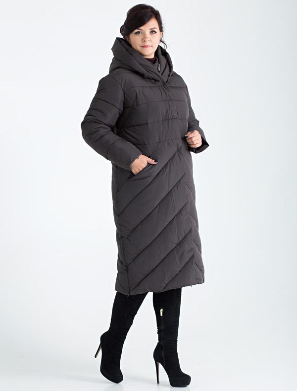 Пальто женское Defreeze, цвет: темно-серый. 72-239_antracite. Размер 5472-239_antraciteСтильное женское пальто DEFREEZE выполнено из полиэстера и дополнено оригинальной фигурной стежкой. Сочетание различных видов стежки смотрится очень модно и визуально делает фигуру более стройной. В качестве утеплителя используется био-пух, выдерживающий значительные морозы. Пальто имеет длину ниже колена, невидимые молнии по бокам и объемный капюшон-воротник. Модель застегивается на молнию и имеет ветрозащитную планку на кнопках. Спереди расположены карманы на молнии.
