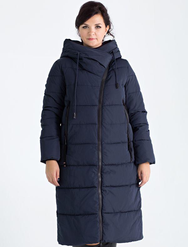 Пальто женское Defreeze, цвет: темно-синий. 72-280_deep navy. Размер 5072-280_deep navyПрямое стеганое пальто DEFREEZE выполнено из полиэстера, в качестве утеплителя используется био-пух, выдерживающий значительные морозы. Пальто имеет длину ниже колена и свободный крой. Несмотря на объемный вид, пальто выглядит стильно благодаря асимметричной застежке и большому капюшону-воротнику оригинальной формы. Модель дополнена двумя карманами на молнии.