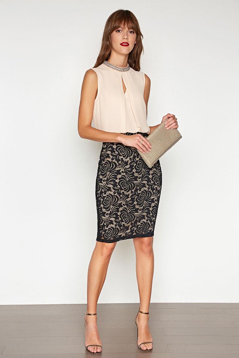 Блузка женская Concept Club Cannelle, цвет: бежевый. 10200270149. Размер XS (42)10200270149_800Блузка жен. Cannelle бежевый