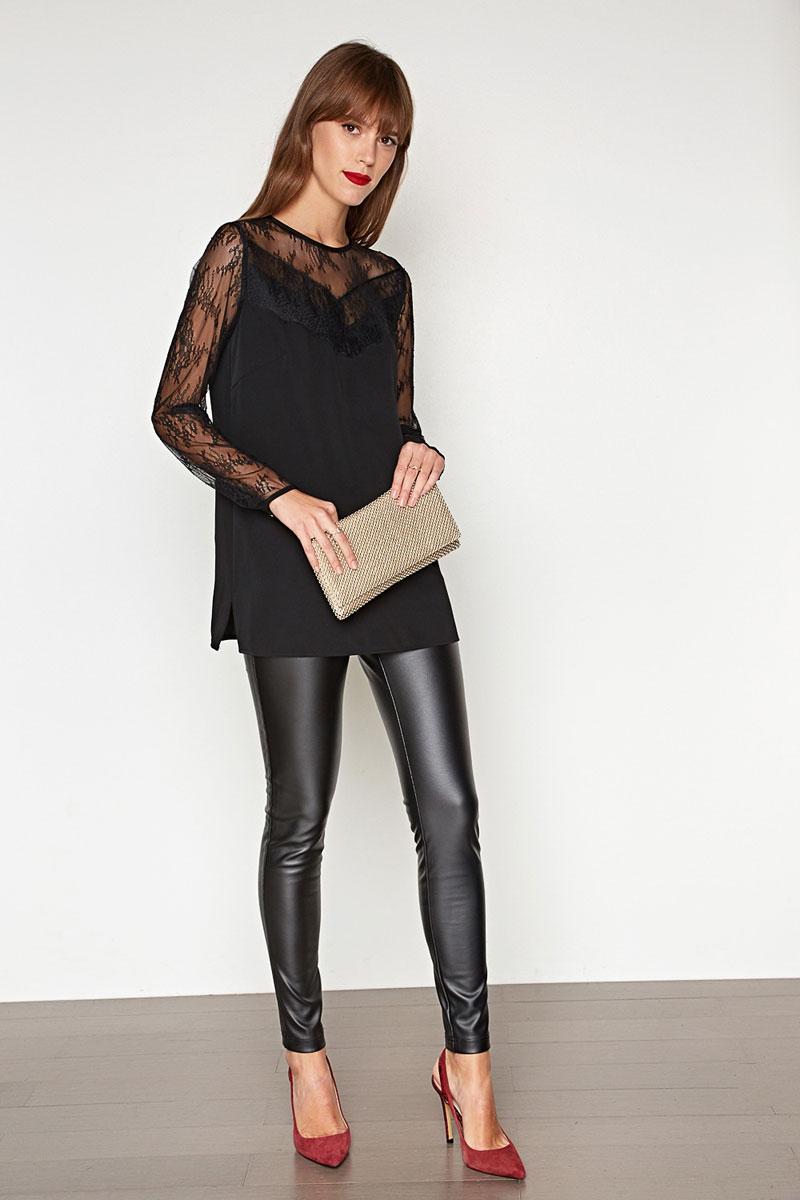 Блузка женская Concept Club Tanita, цвет: черный. 10200260208. Размер XXS (40)10200260208_100Блузка женская Concept Club выполнена из полиэстера. Блузка будет дарить вам комфорт в течение всего дня и послужит замечательным дополнением к вашему гардеробу.