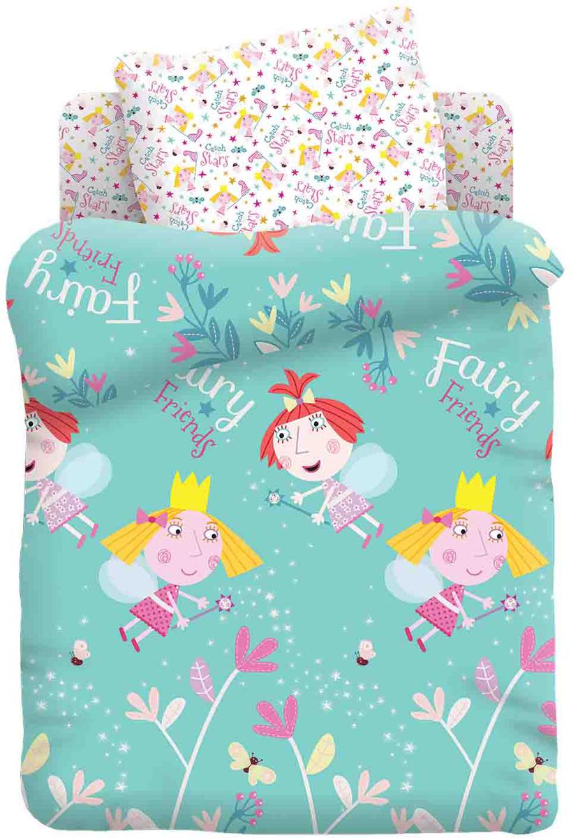 Бен и Холли Комплект белья в кроватку Холли и Стробери цвет зеленый 3 предмета442182