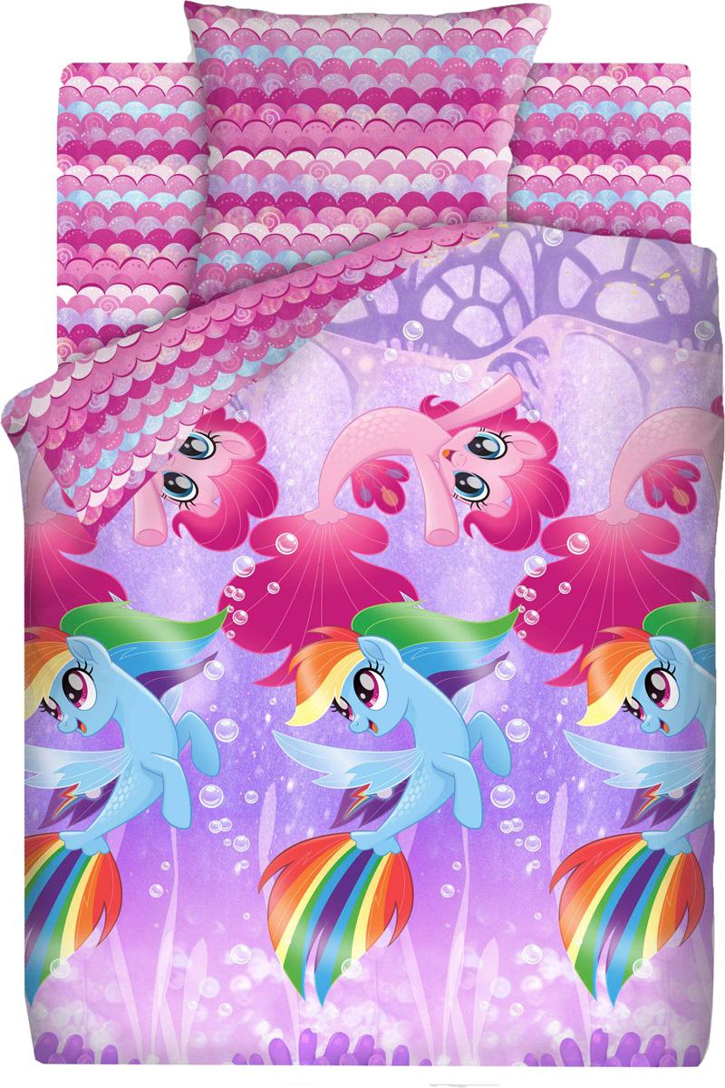 Комплект белья детский My Little Pony Подводные пони, 1,5-спальный, наволочка 70x70437679Невероятно красочное постельное белье  My Little Pony украсит детскуюкомнатуиподарит ребенкуотличное настроение на весь день.Этот комплект выполнен из бязи, отличается прекраснойпрочностью и подходит для ежедневного использования. Белье имеет гладкую матовую поверхность, которая оченьприятна на ощупь и выглядит одинаково эстетично с лицевой и изнаночной стороны. Постельноебелье великолепно сохраняет яркость красок и даже после многочисленныхстирок выглядит так, будто куплено вчера.В комплект входят наволочка, простыня нарезинке ипододеяльник.Комплект станет замечательным дополнением к интерьеру детской комнаты.