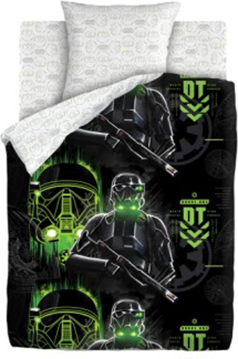 Комплект белья Star Wars Имперский солдат, 1,5-спальный, наволочки 70x70, цвет: черный390846